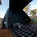 パースでキャンプ